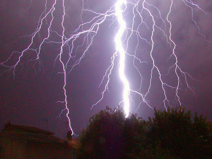 Lightning is one cause of ecological disturbances. Photo credit: Axel Rouvin via wikimedia commons