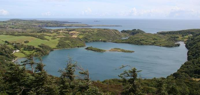 Lough Hyne, County Cork, Ireland.  Photo credit:  Riekeshieldmaiden at en.wikipedia