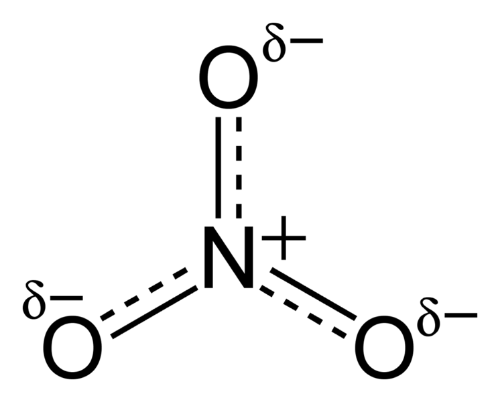 The nitrate molecule.   From Wikipedia