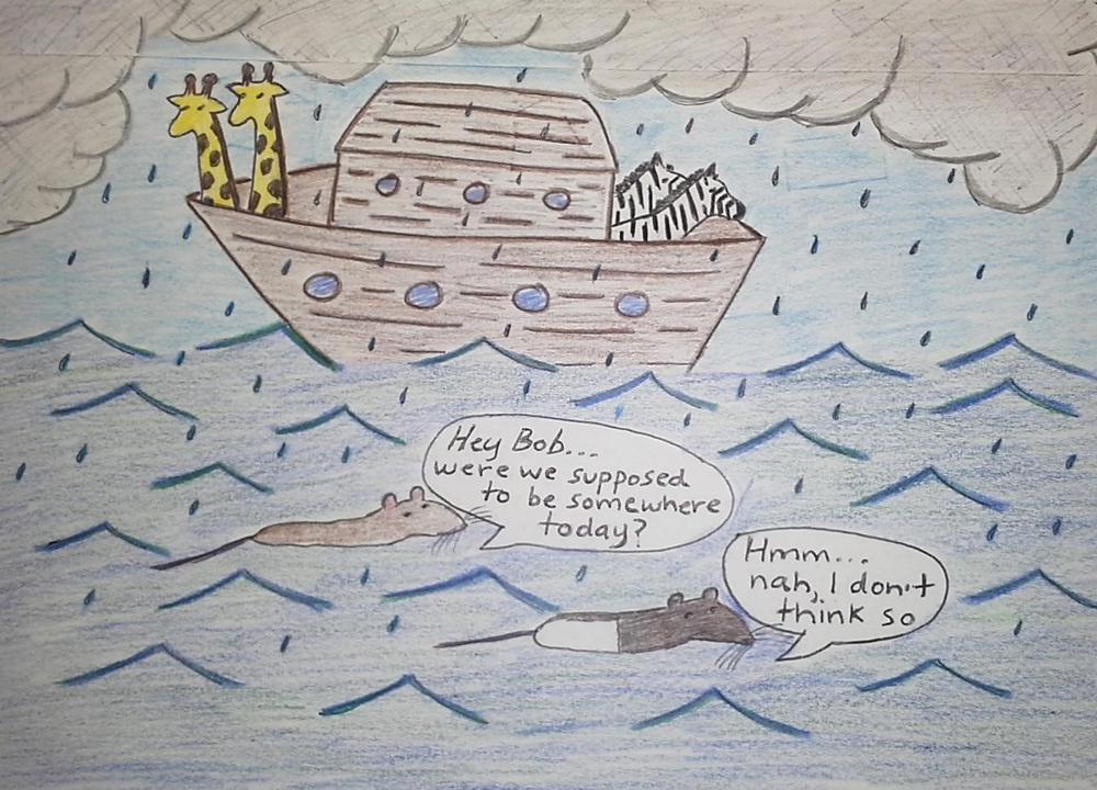 Who needs an ark? Drawing by Catherine Caruso