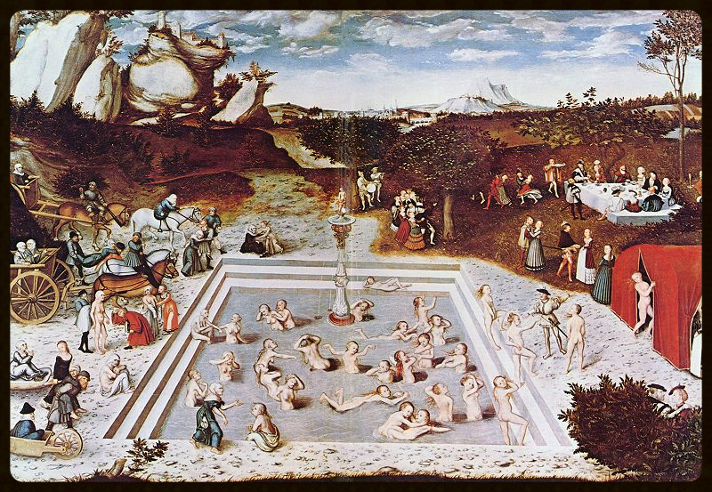 The  Fountain of Youth , 1546 painting by  Lucas Cranach the Elder .