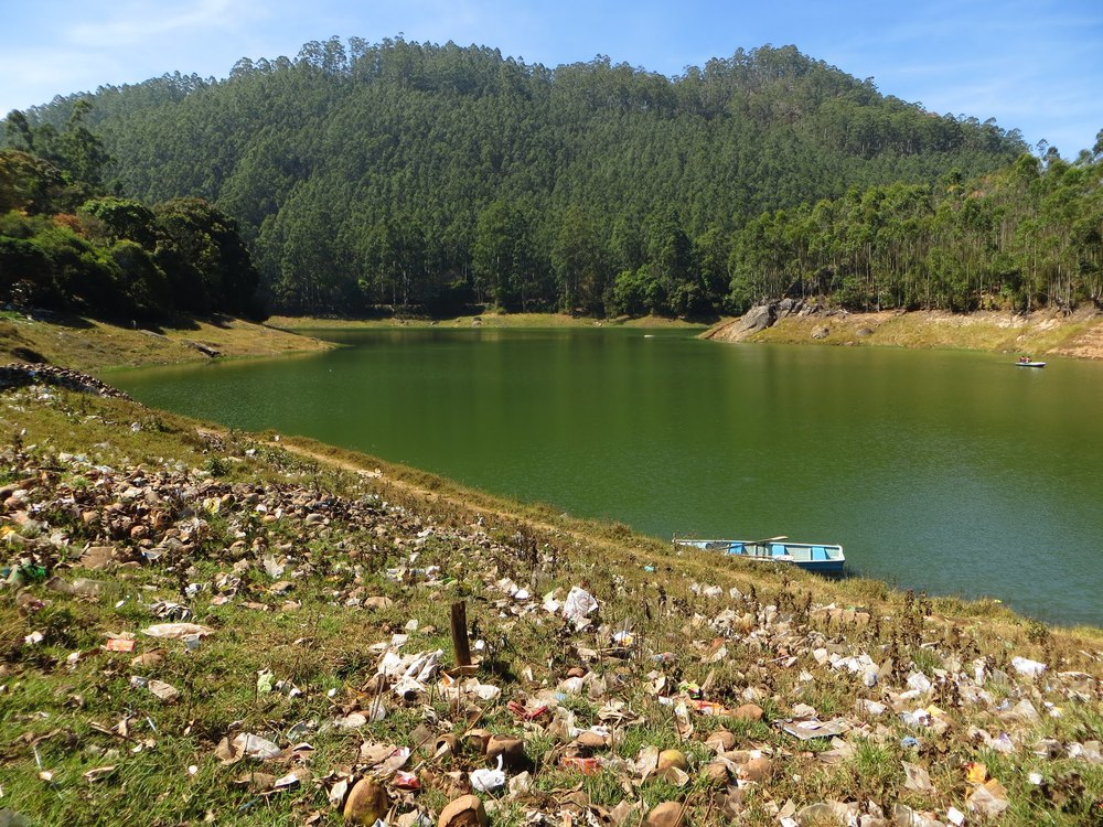 Plastic waste near Kundala Dam Lake, Munnar, India. Image taken by Taruna Aggarwal.