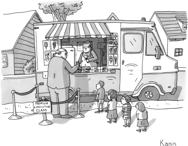 Cartoon from The New Yorker. Kanin.