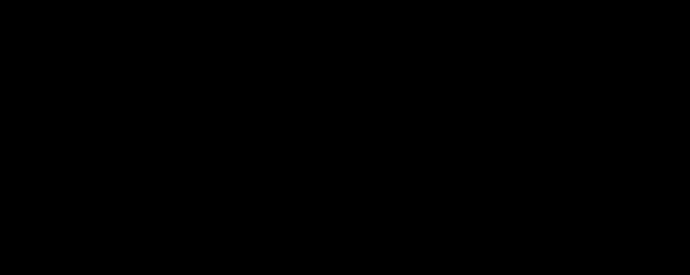 Molecular structure of glyphosate.
