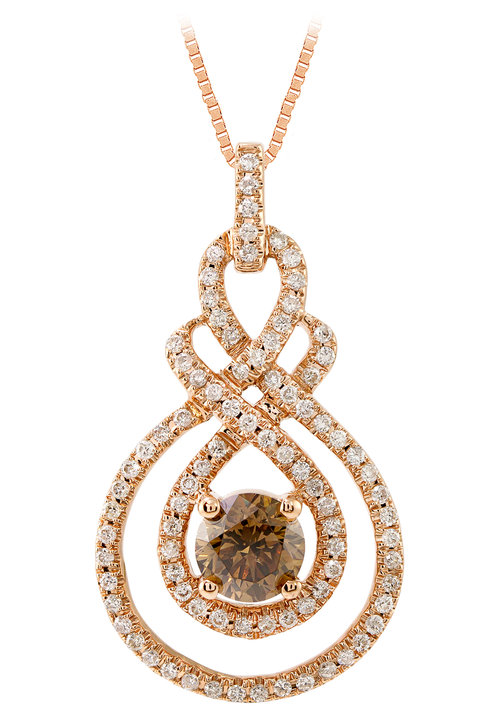 Santa rosa jewelers round mocha diamond fashion pendant audiocablefo