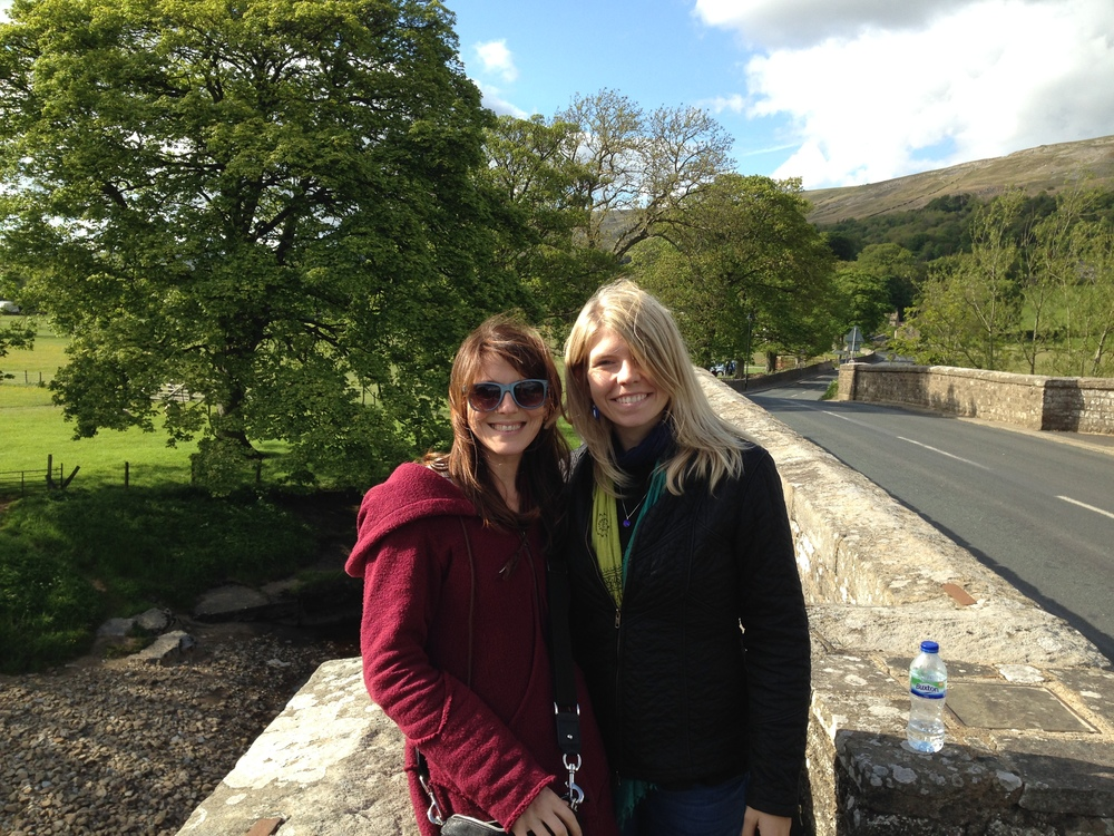 Les and Christine At the picturesque Swaledale festival