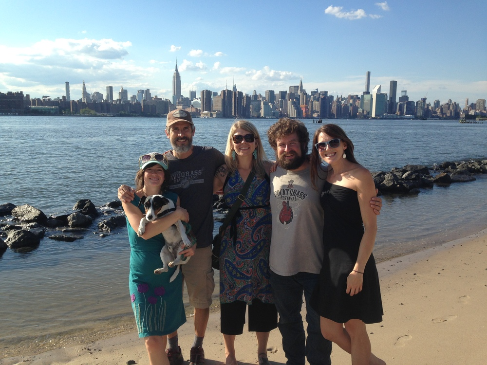 Spending some time on the East River in Brooklyn before heading to the Rockwood Music Hall in NYC