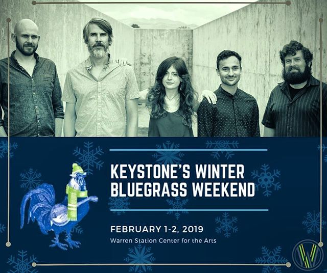 Happy New Year!  Join us Feb 1 for a wintery weekend of bluegrass music! ❄️🎻