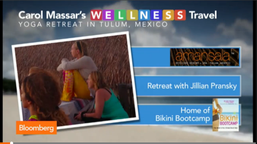 Jillian's Annual Yoga-in-Paradise Retreat in Tulum, Mexico featured on Bloomberg TV