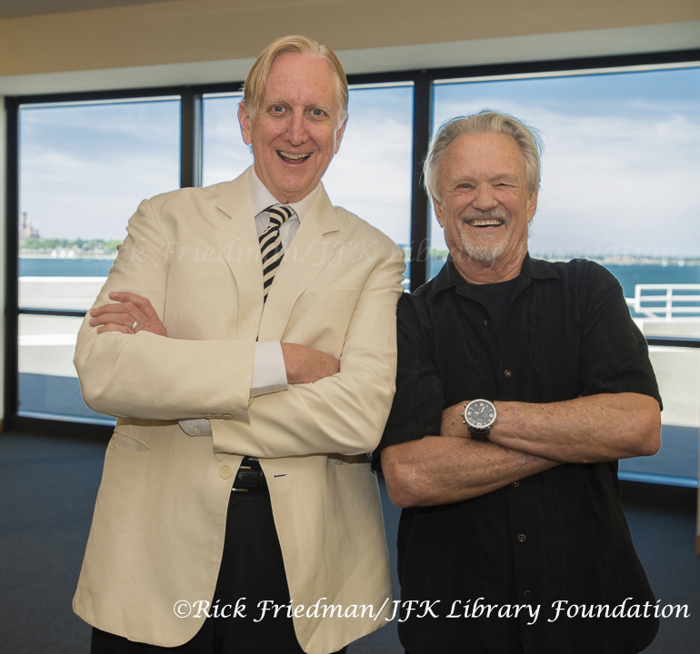 T Bone Burnett and Kris Kristofferson at JFK Library in Boston, MA