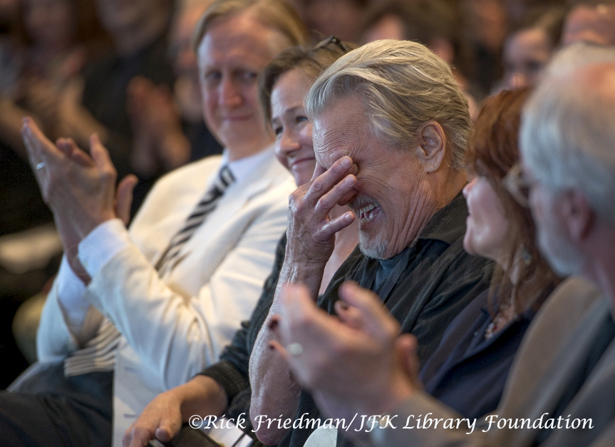 Kris  Kristofferson reacts as he is introduced.