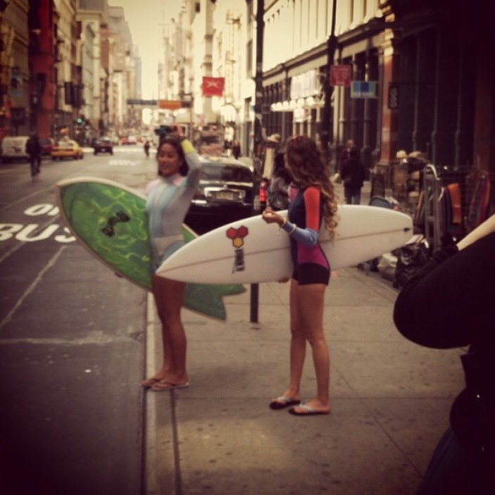 Monyca Bryne-Wickey & Kelia Moniz Surf in the City   #NYC