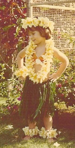 Growney in early days of Hula Lessons