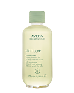 After bathing, seal in moisture with Shampure Composition calming aromatic oil.