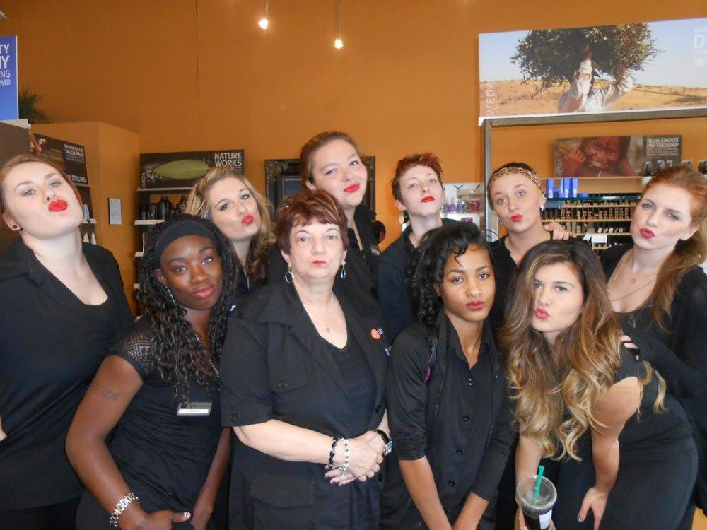 Casal Aveda Institute students having fun with the new Autumn/Winter collection.
