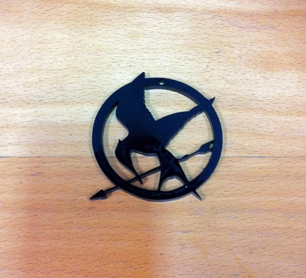 "Laser-Cut Black Acrylic 3"" Dia"
