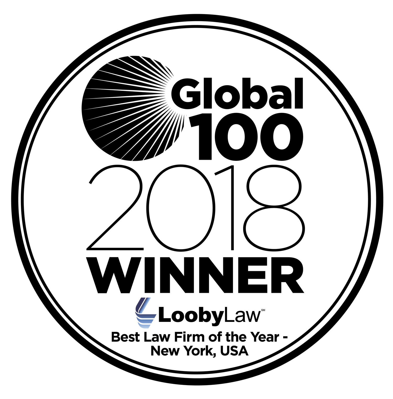 LoobyLaw Named Global 100 2018 Best Law Firm the Year in New