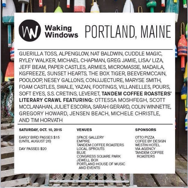 Boy oh boy we are super pumped to be a part of this AWESOME event! Portland Maine essentially being taken over by amazing local music! We're honoured to be a part of the first ever Waking Windows festival! Ccchhhhyyaaaaa. (High kick)  More details to come!! 🎉🎊💥🎶