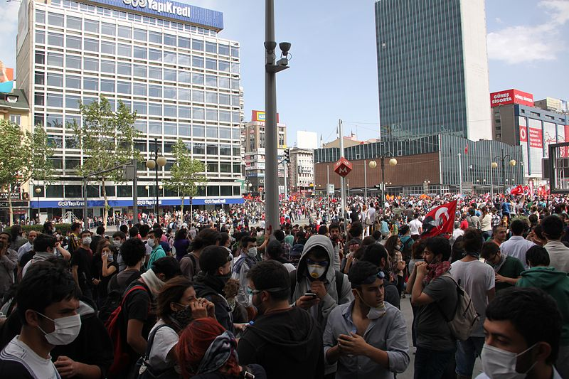 Gezi protest in  Kızılay Square , Ankara  (Source: Wikimedia Commons)