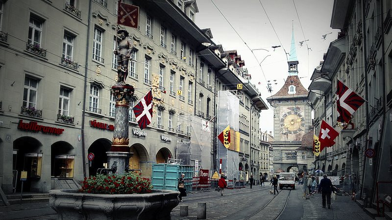 The Zytglogge clock tower, Bern - Switzerland (Modified photo, original by Cristo Vlahos)