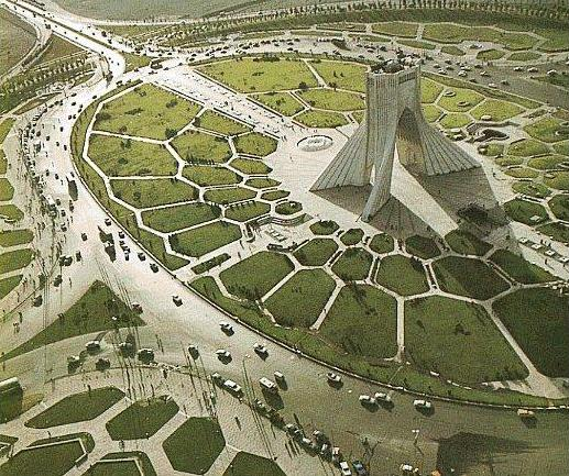 Azadi square and tower, constructed 1971 (Source: Wikimedia Commons)