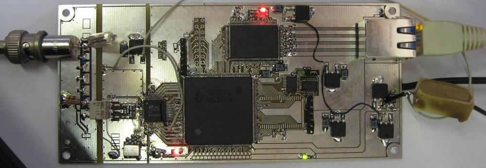 Wideband online SDR receiver at the University of Twente, Enschede, The Netherlands