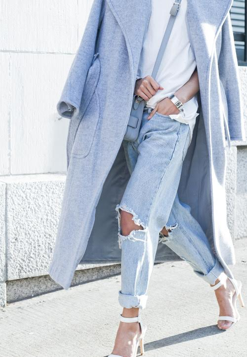 Ripped Jeans If you are looking to spice up your closet, ripped jeans are the perfect dash of diva. They go perfect with both evening and daywear. With winter around the corner, ripped jeans with a pair of knee-high boots, will surely be the epitome of winter fashion.