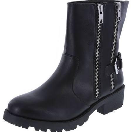 (Brash Women's Mace Lug Moto Boot Black from Payless- $34.99)