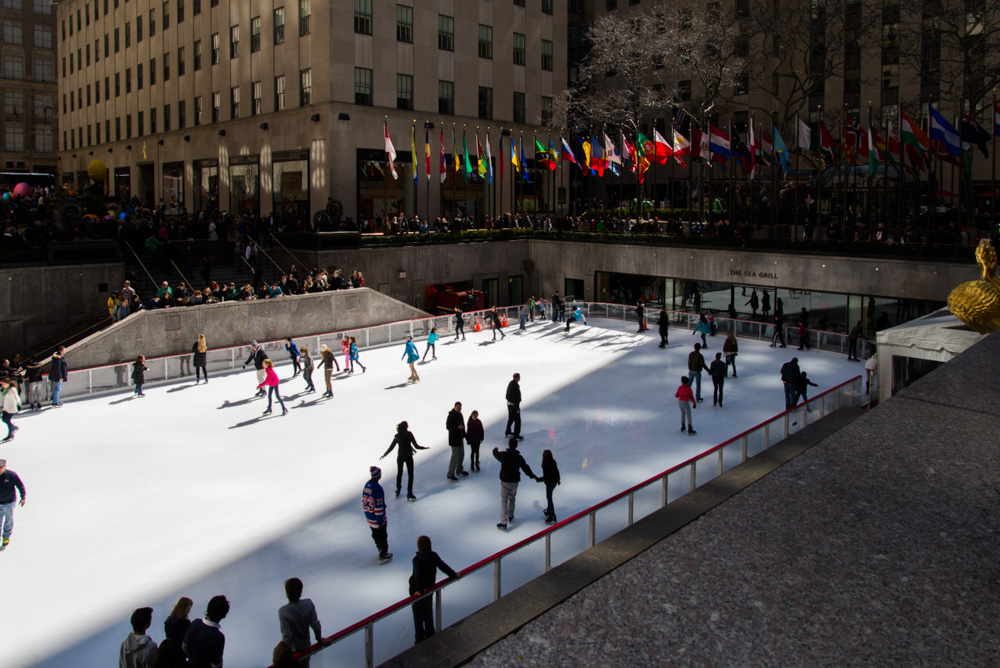 Skating at Rockefeller Plaza