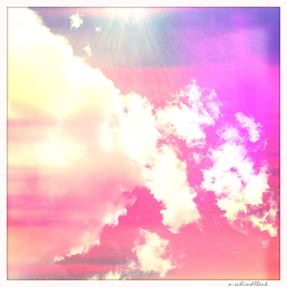 head in the clouds.....bright colors.....big dreams