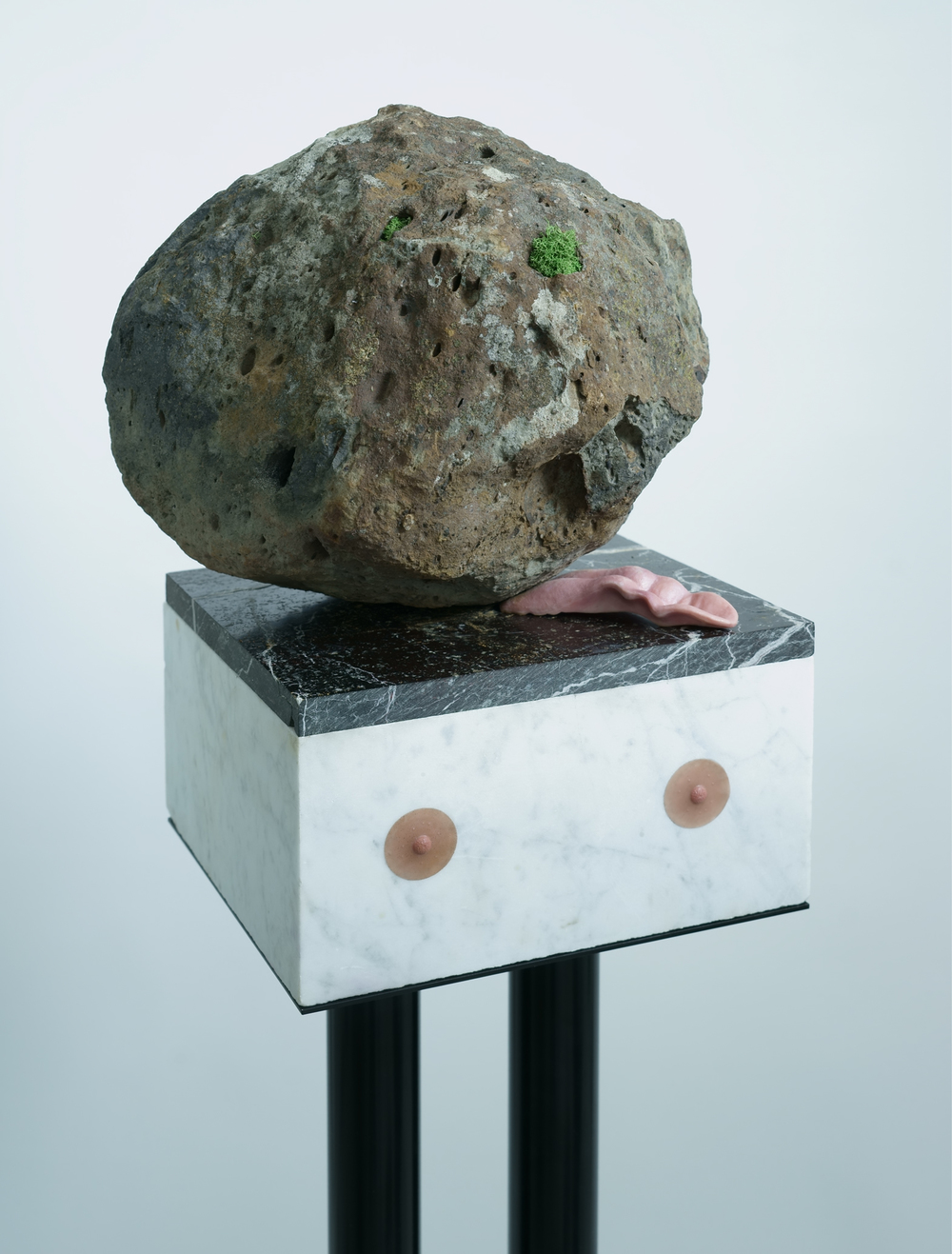 Sensual Caricature, 2016, dimensions variable, stone, steel, silicon
