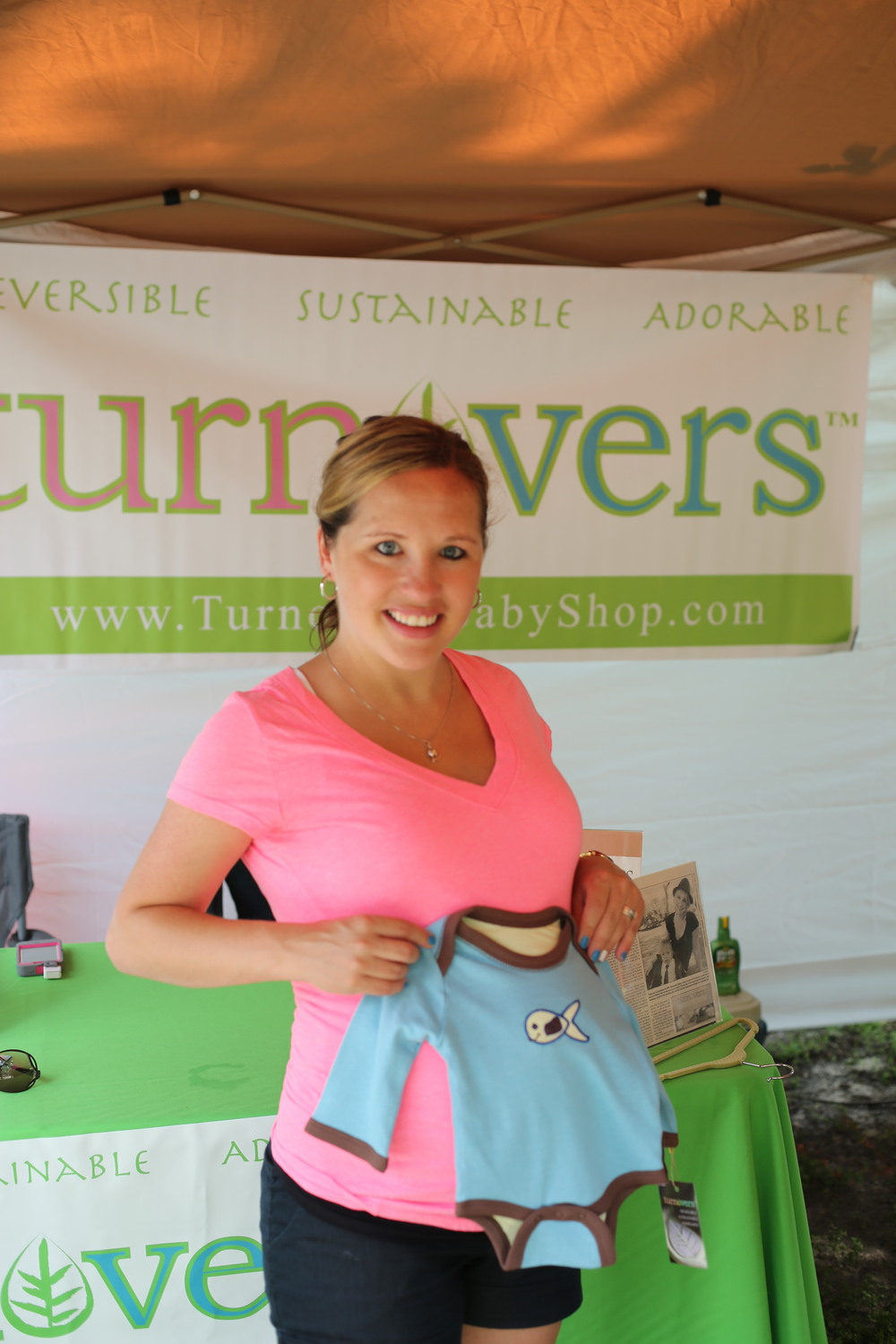 This beautiful mom-to-be stopped by our tent to check out options for her little guy