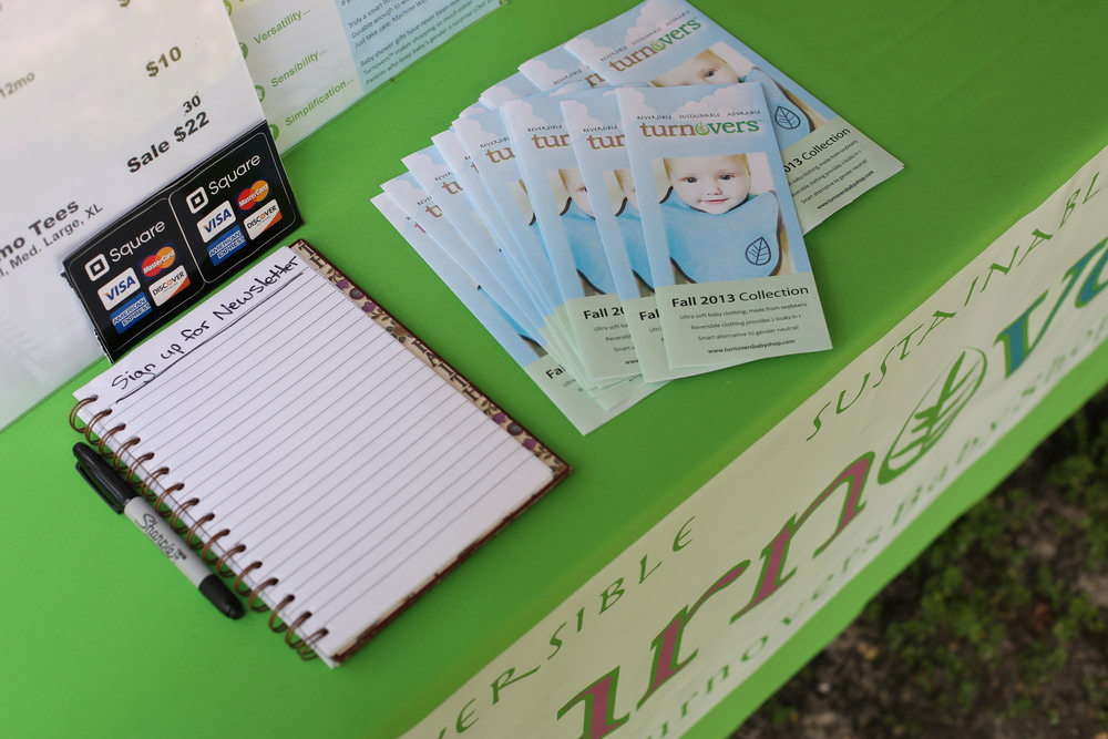 The table was full of info and brochures for all who were interested in our new line
