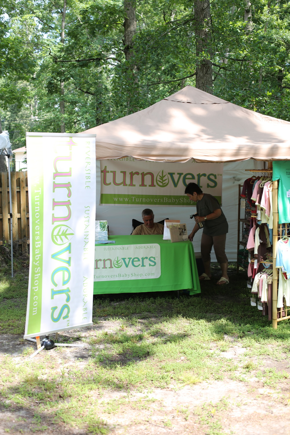 Our tent looked exactly as we had envisioned, along with bamboo fixtures and a professional display of our merchandise. Dave & Mary Schrag (pictured above) were involved in every aspect and contributed so much to this project!