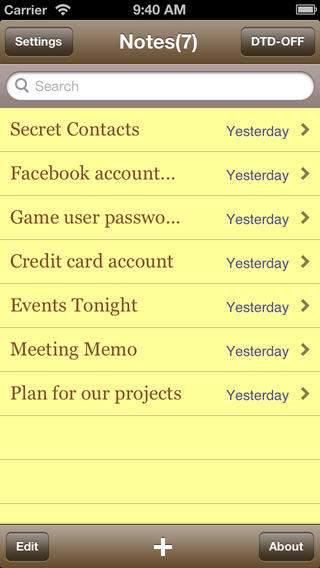 iPhone Notes Application