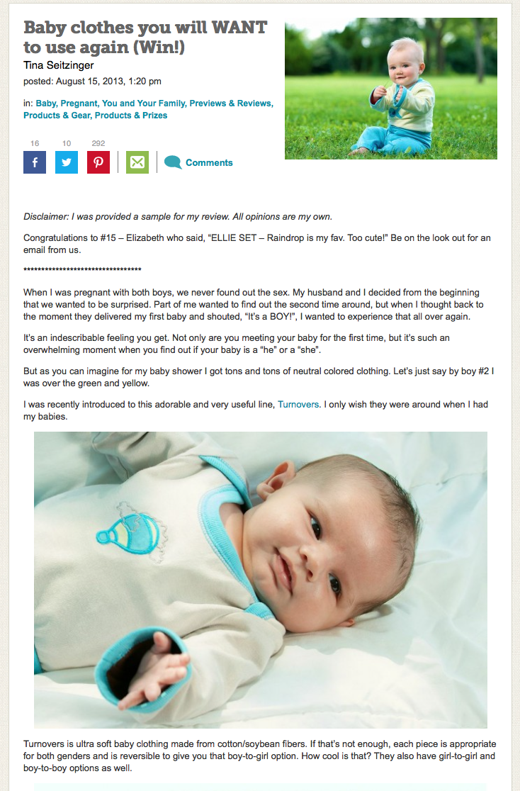 Babycenter on Turnovers Baby Shop