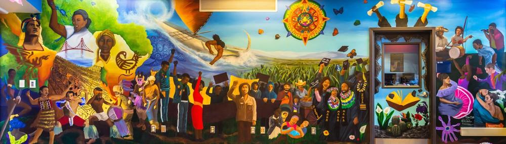 Village Mural. College of San Mateo, San Mateo CA. 2014-2015.
