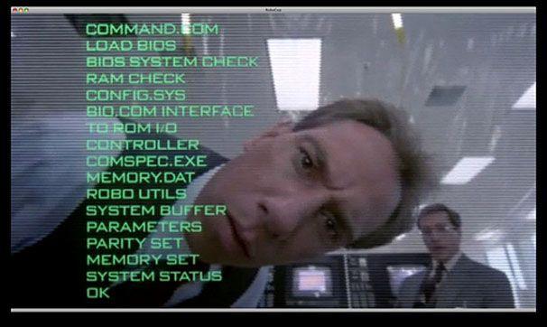 Robocop runs MS-DOS