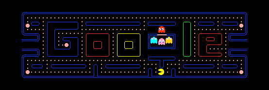Epic win right here folks. Google's playable logo in celebration of Pac-Man's 30th birthday. (Google - via Vaidehi Shah)