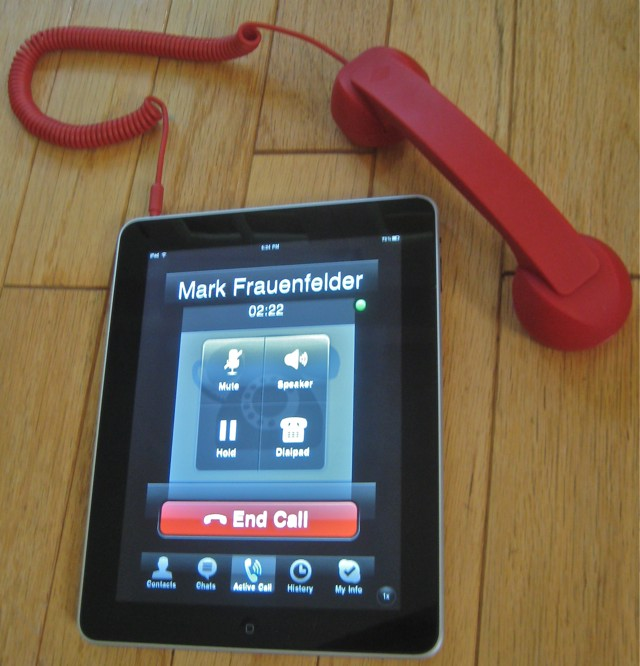 jairoo: // iPad + Skype + retro handset = ridiculously fun mobile phone