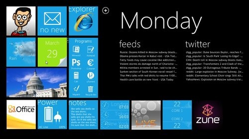 Transform Your Windows Desktop with an Amazing Windows Phone 7-Style HUD - Customization - Lifehacker This looks very nice.