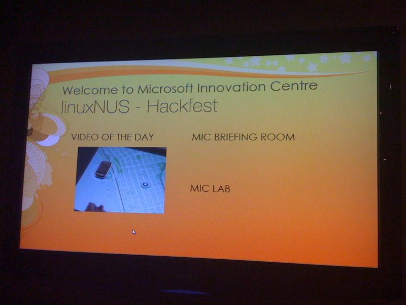 linuxNUS @ Microsoft Singapore
