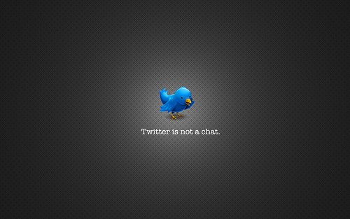 twitter is not a chat (via action datsun)