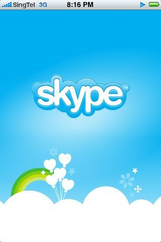 Skype on my iPhone. Whee! ;)