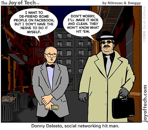 Donny Deleeto, social networking hitman.