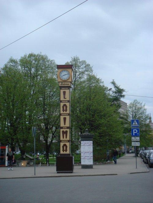 "In Riga: The famous ""Laima"" clock. (via ramkumar.shankar's Photos)"