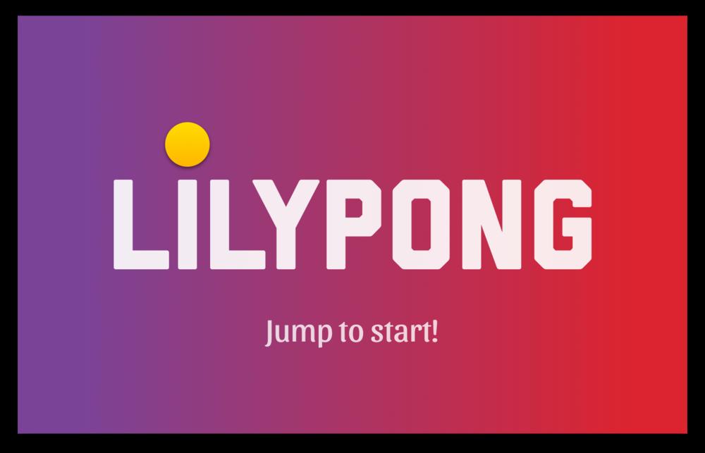 LilyPong start screen