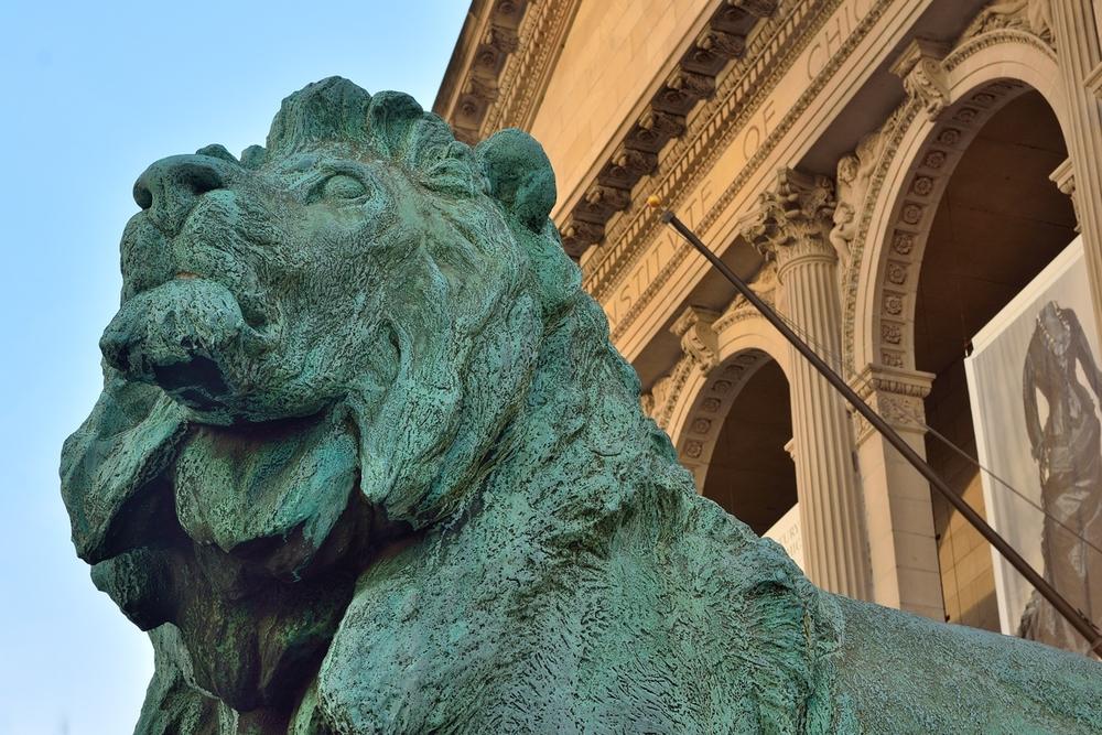 Lion Standing Guard