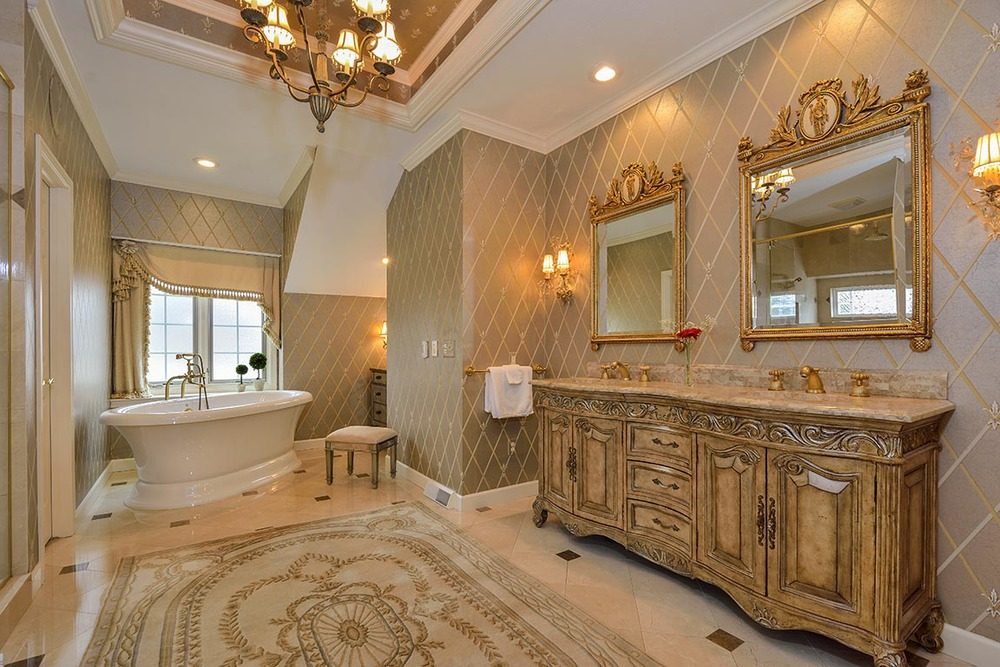 Master Bath with a Royal Flair