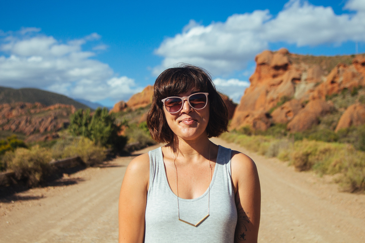 Leila Alexandra Bonmariage in the Red Rock of the Karoo || #portrait || Shot on: Canon 650D